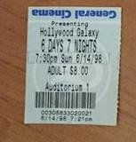 1998 Ticket Stub
