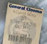 2000 Ticket Stub