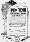 August 29th, 1920 grand opening ad as Rialto