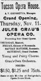 November 11th, 1897 grand opening ad as Opera House