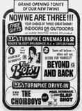 March 3rd, 1978 grand opening ad for the indoor twin cinema.