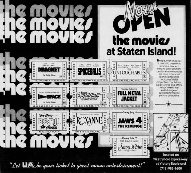 July 3rd, 1987 grand opening ad
