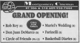 April 21st, 1995 grand opening ad as a 6-plex