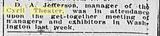 News item in the Richmond VA newspaper dated Feb .6, 1921