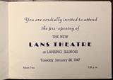 January 28, 1947 pre-opening invite compliments of Lansing Historical Society.