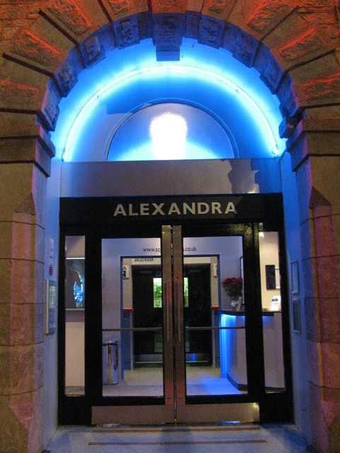 Entrance by night, July 2011