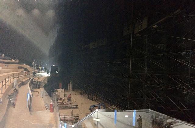 IMAX construction inside