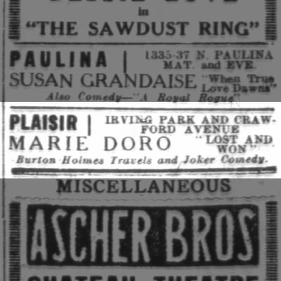 PLAISIR Theatre; Chicago, Illinois.