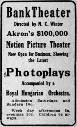 April 2nd, 1912 grand opening ad