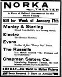 January 15th, 1910 grand opening ad