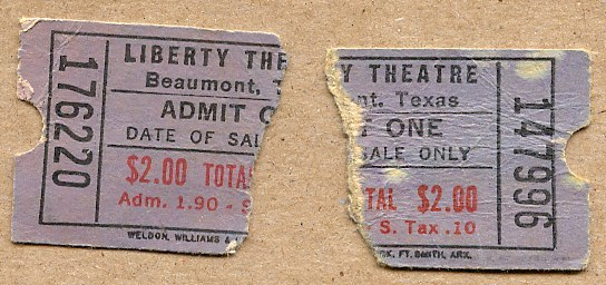Liberty Theatre ticket
