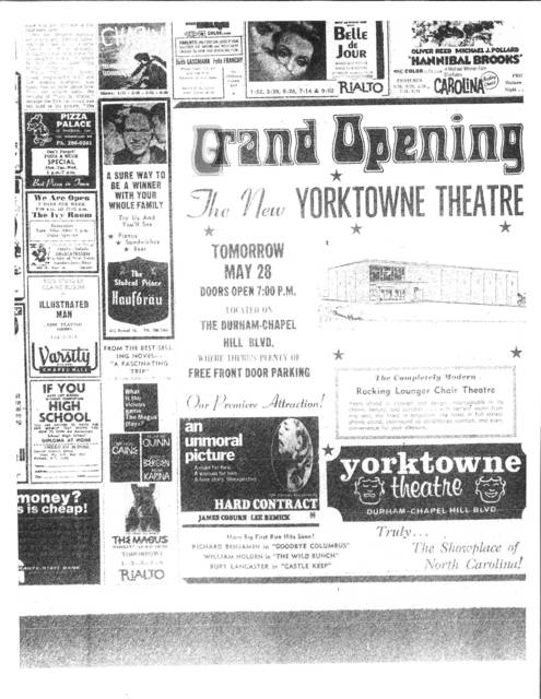 Grand Opening of the Yorktowne Theater on May 28, 1969
