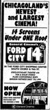 August 10th, 1990 Grand opening ad for the Ford City 14