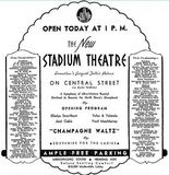 April 16th, 1937 grand opening ad as Stadium