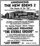 November 14th,  1969 grand opening ad for Edens 2