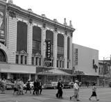 Side of former Rialto & Cooper Cinerama. 1961 photo courtesy of Steve Raglin.