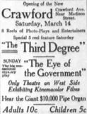 March 14th, 1914 grand opening ad
