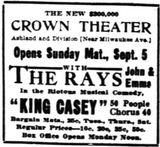 August 29th, 1909 grand opening ad