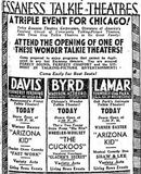 August 29th, 1930 grand opening ad as Davis