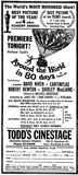 April 4th, 1957 grand opening ad as Cinestage