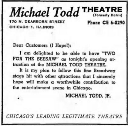 December 26th, 1958 grand opening ad