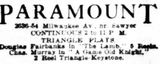 November 23rd, 1915 grand opening ad as Paramount