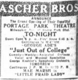 December 11th, 1920 grand opening ad