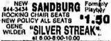 June 3, 1977 grand opening ad as Sandburg.