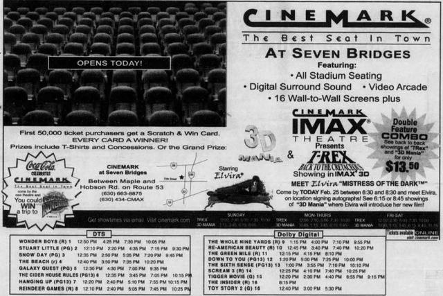 february 25th 2000 grand opening ad cinema treasures