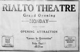 April 18th, 1926 grand opening ad
