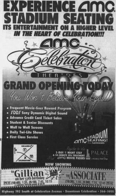 October 25th, 1996 grand opening ad