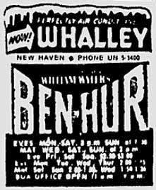 Whalley Theater 1961 ad