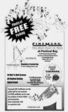 December 17th, 1999 grand opening free popcorn card