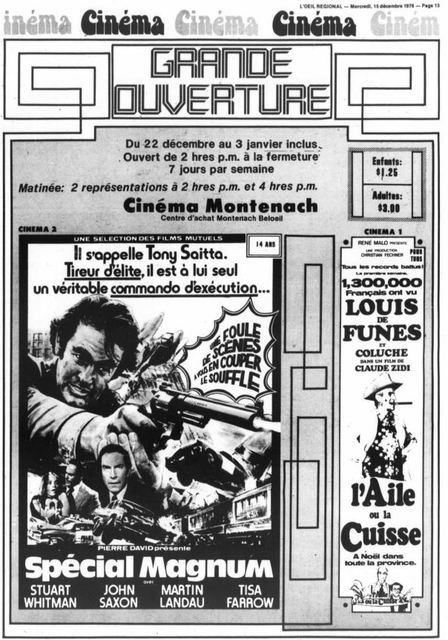 15 décembre 1976 annonce d'ouverture