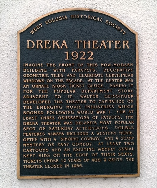 Plaque on Dreka Building