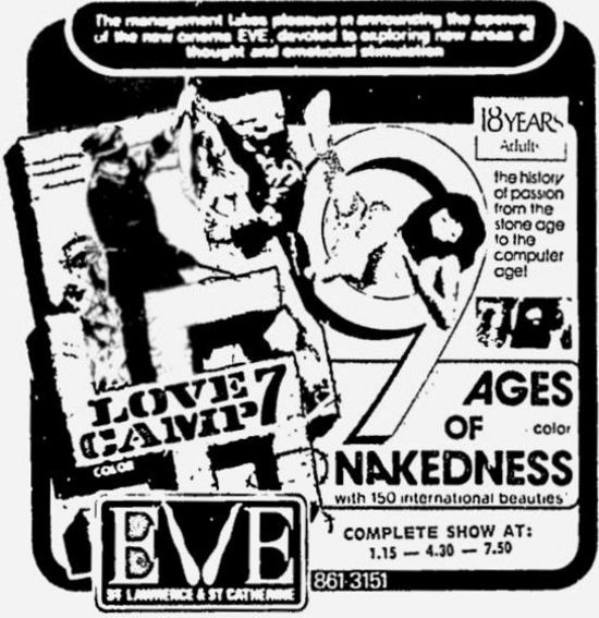 January 7th, 1972 grand opening ad as Eve