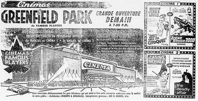 16 août 1967 ouverture annonce en français