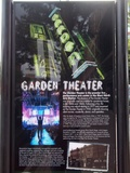 """[""""Garden Theater history sign""""]"""