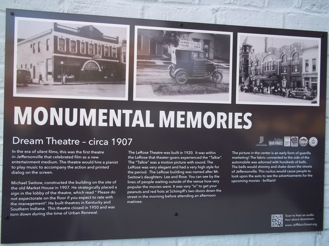 LeRose and Dream Theatres history sign