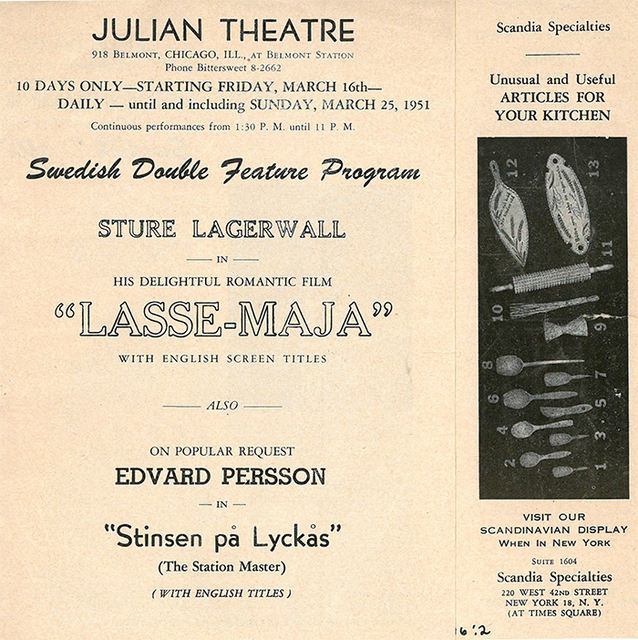Julian Theater Program