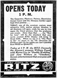 November 19th, 1938 grand opening ad as Ritz