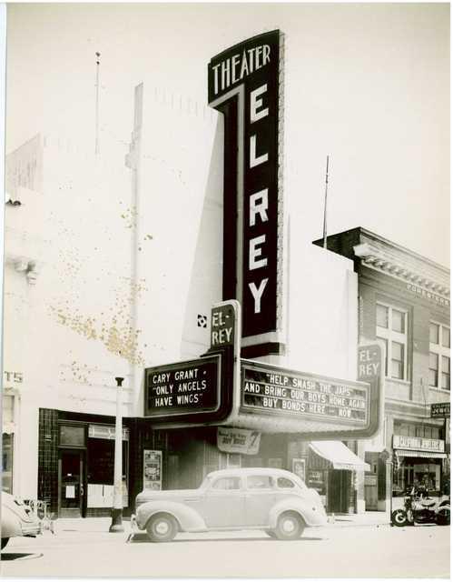 El Rey Theater Salinas CA exterior 1945