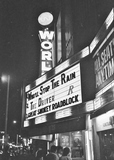 World Theater marquee 1978