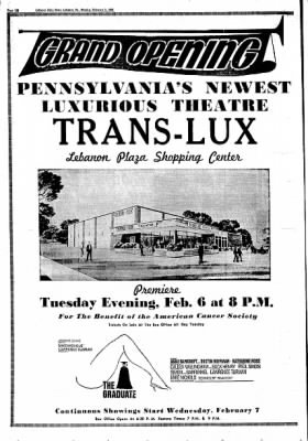 Trans Lux - Lebanon Shopping Center - Opening Advertisement