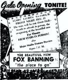December 3rd, 1953 grand reopening ad