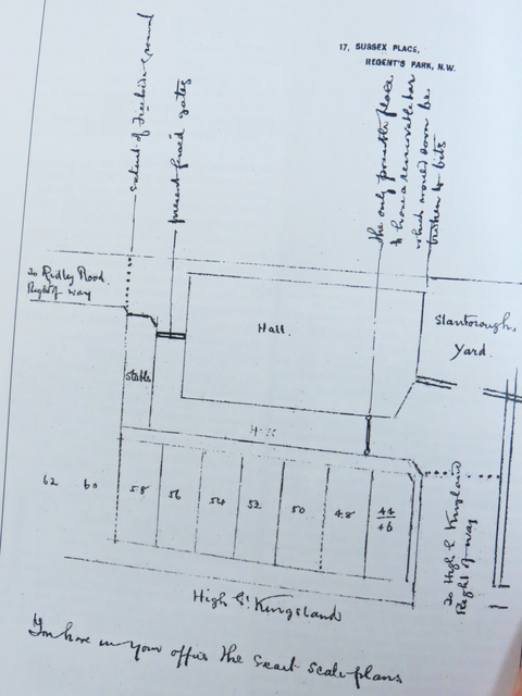 Amhurst Hall Cinema plan