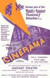 1954 Cinerama flyer