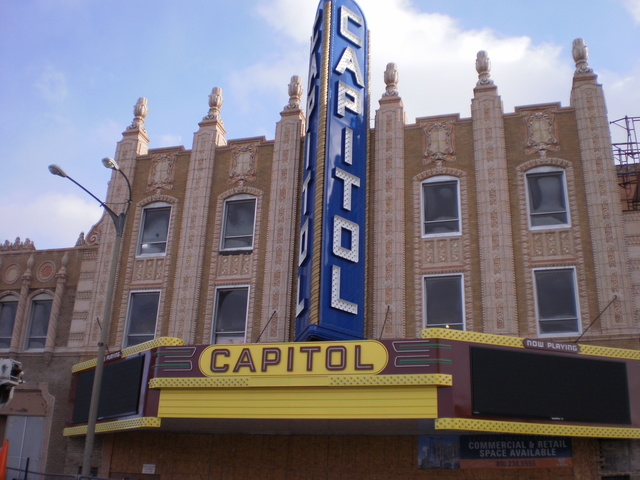 New Capitol Theatre blade sign and marquee