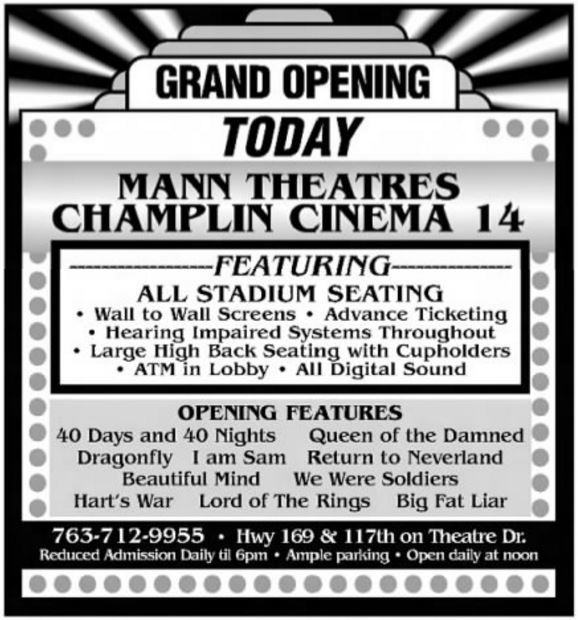 Champlin mn movie theater