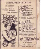 August 1926 Loew's Palace Memphis program